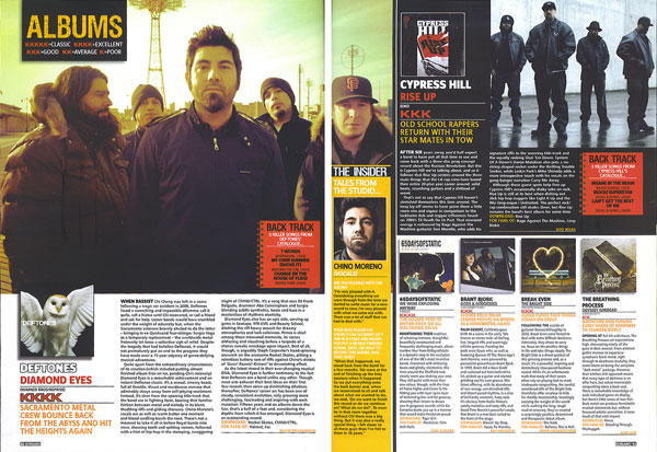 Рецензия на альбом «Diamond Eyes» группы Deftones в журнале «Kerrang!»