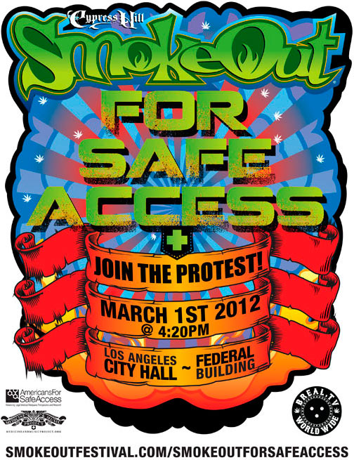 Cypress Hill SmokeOut For Safe Access Protest