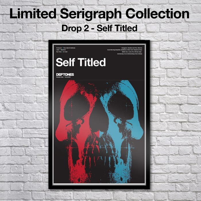 Limited Edition Self Titled Deftones Serigraph
