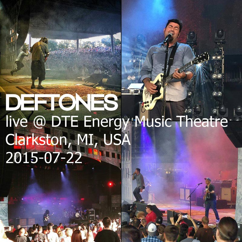 Deftones live @ DTE Energy Music Theatre, Clarkston, MI, USA 22 июля 2015 г.