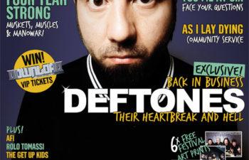 Чино Морено на обложке 135-го номера журнала «Rock Sound»