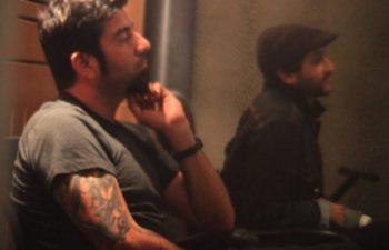 Чино Морено в студии с Bad Rabbits