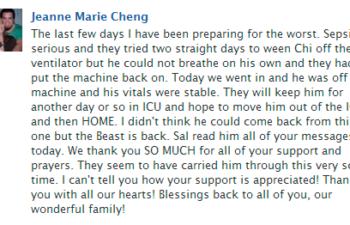 По словам мамы Джей, Чи Ченгу стало лучше