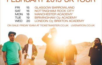Турне Deftones по Англии и Европе в феврале 2013 года