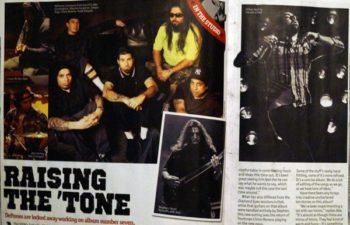 «Raising The 'Tone» — Deftones в журнале «Metal Hammer» (№ 235, сентябрь 2012)