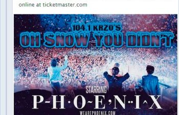 5 декабря Crosses выступят в Рено, Невада вместе с Phoenix и Alt-J