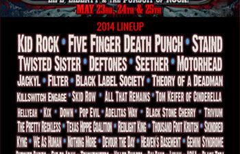 Список участников музыкального фестиваля «Rocklahoma» 2014 года