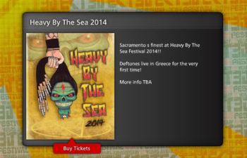 Deftones на фестивале Heavy By The Sea Festival в Греции