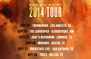 Расписание осеннего турне группы Palms по США