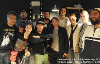 Встреча с группой Deftones в Санкт-Петербурге. 1 июля 2014 г.