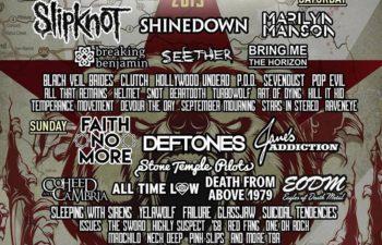 Участники музыкального фестиваля Aftershock 2015