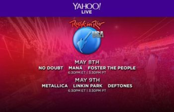Cервис Yahoo Live организовал онлайновую трансляцию фестиваля Rock In Rio USA