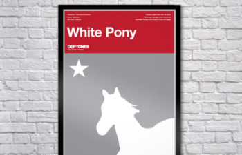 Limited Edition White Pony Serigraph