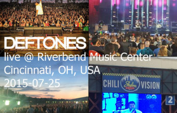 Deftones live @ Riverbend Music Center, Cincinnati, OH, USA 25 июля 2015 г.
