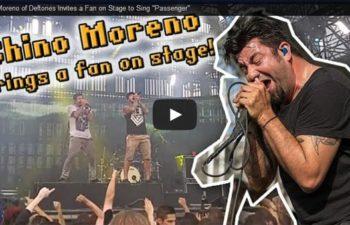 Чино Морено пригласил на сцену фаната для исполнения песни «Passenger»