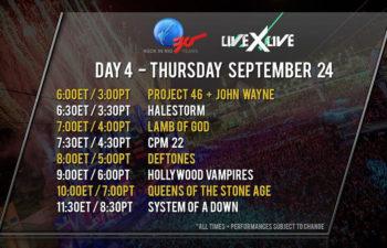 Расписание онлайн-трансляций с фестиваля Rock In Rio 24 сентября 2015 года