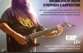 Fishman Fluence приглашает на бесплатный семинар со Стивеном Карпентером