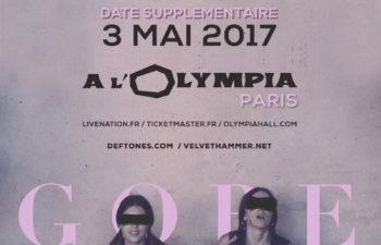Концерты Deftones в Париже: 2 и 3 мая 2017 года