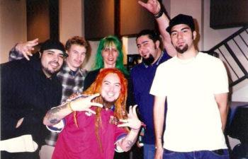 Раритетное фото: Макс Кавалера (на переднем плане), Дана (сзади) и Deftones