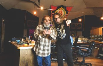 Dr. Know (Bad Brains) и Рэнди Блайт (lamb Of God) в студии Applehead Recordings