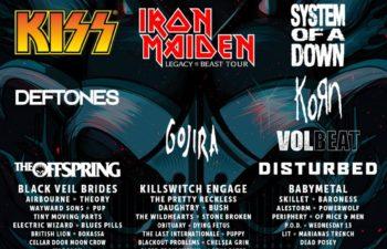 Участники «Download Festival» в Великобритании 12-14 июня 2020 года