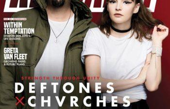 Чино Морено из Deftones и Лорен Мейберри из Chvrches на обложке журнала «Kerrang!»