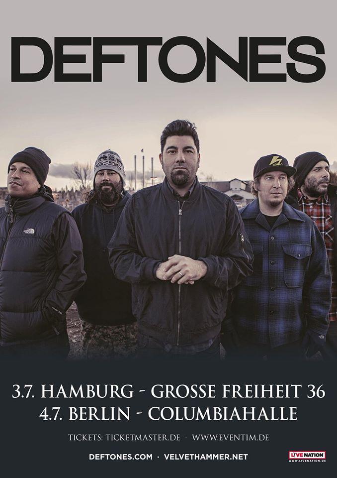 Сольные концерты Deftones в Гамбурге (3 июля) и Берлине (4 июля)