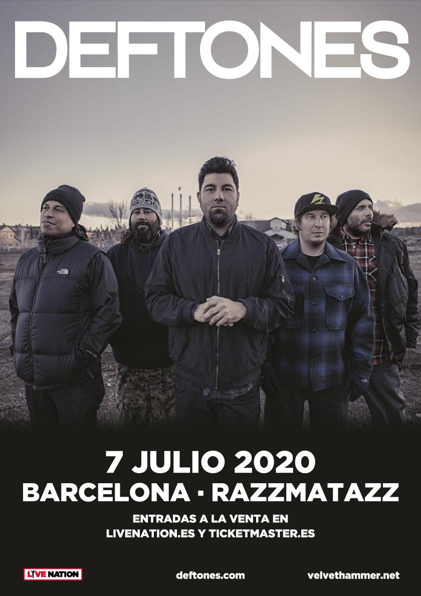 Концерт Deftones в Барселоне (Испания) состоится 7 июля