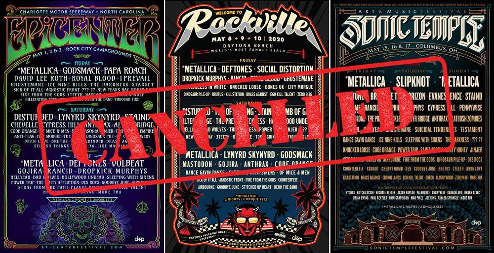 В США отменены фестивали «Epicenter», «Welcome To Rockville» и «Sonic Temple» с участием Deftones