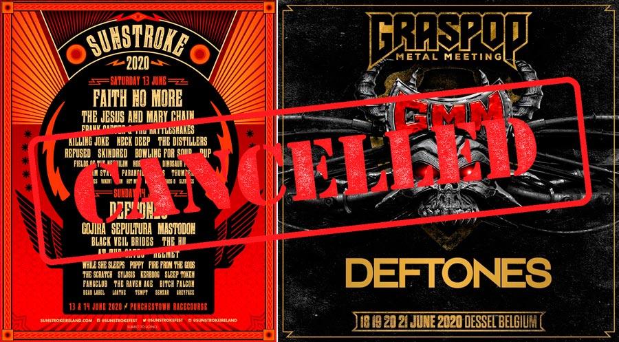 Из-за коронавируса отменены фестивали «Graspop Metal Meeting» в Бельгии и «Sunstroke» в Ирландии