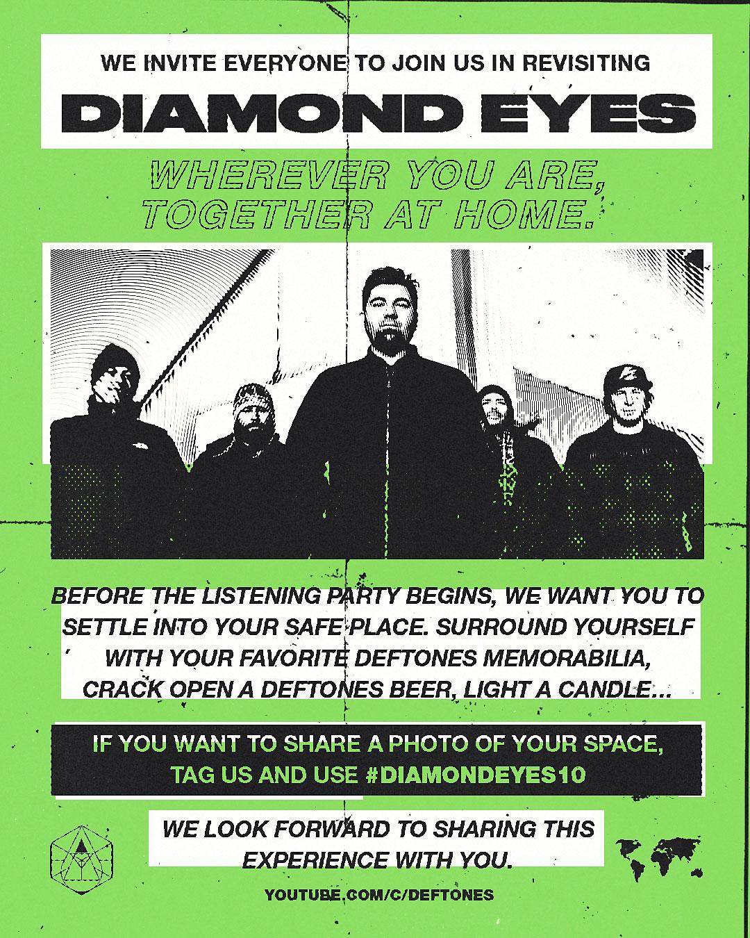Deftones приглашают на всемирную вечеринку по поводу 10-летия альбома «Diamond Eyes»