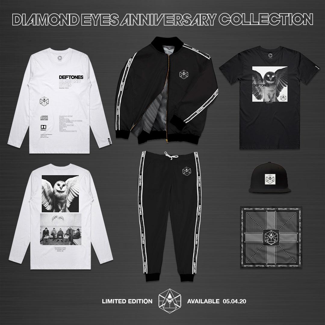 Группа Deftones представила лимитированную коллекцию юбилейного мерча, посвященного альбому «Diamond Eyes»