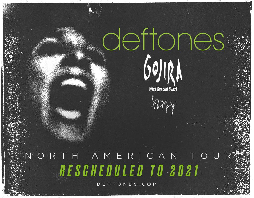 Объявлены даты турне Deftones, Gojira и Poppy, перенесенного на 2021 год