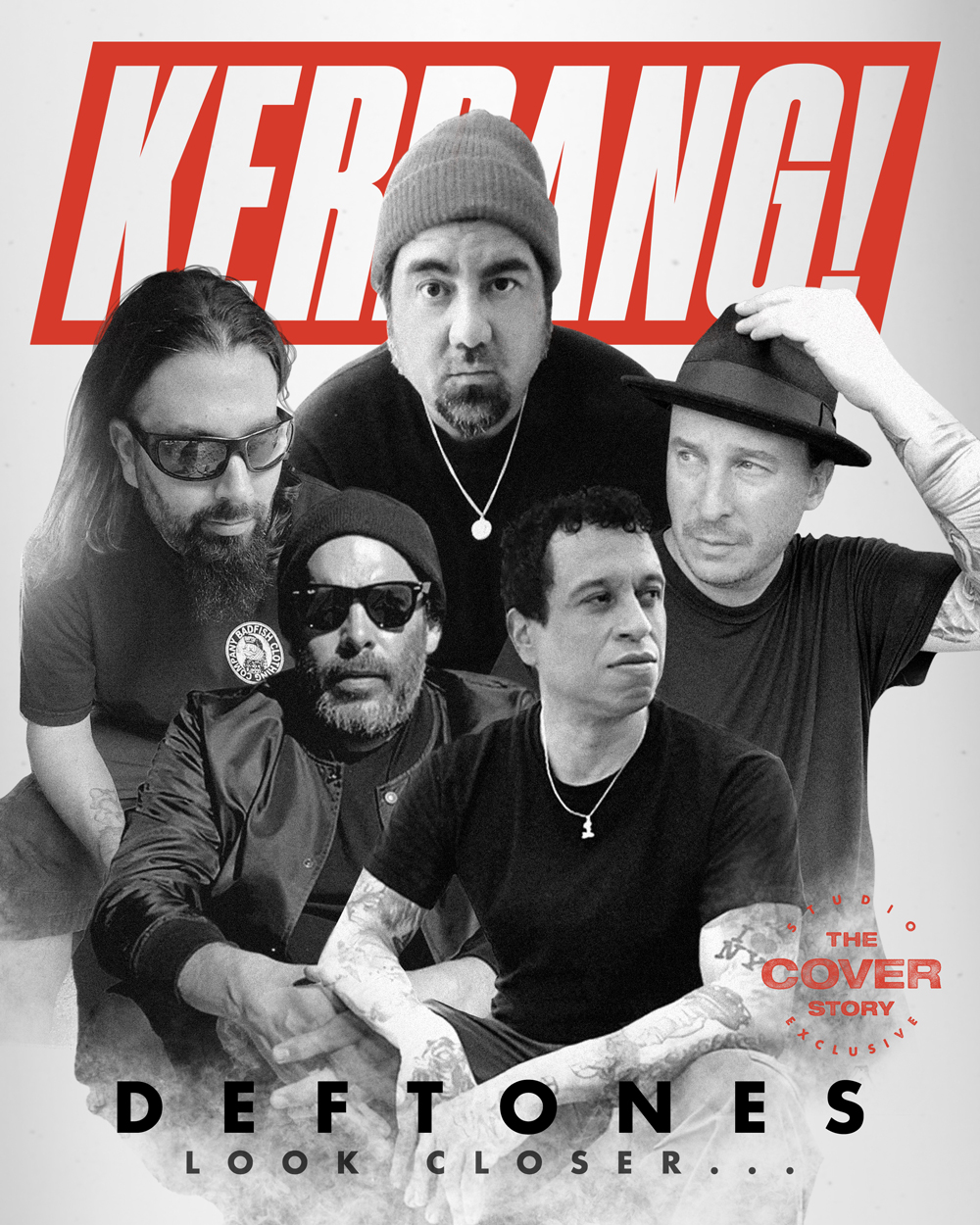 Группа Deftones на обложке журнала «Kerrang!» с эксклюзивной «темой номера»