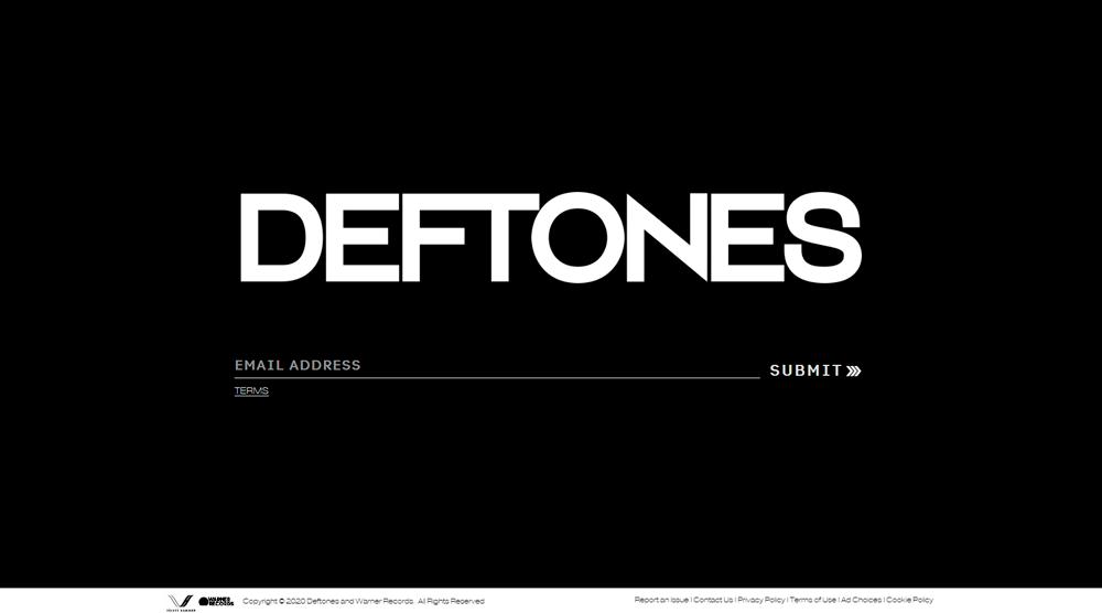 Зайдите на deftones.com и оставьте свой адрес электронной почты, чтобы подписаться на официальную рассылку группы Deftones и увидеть загадочный тизер альбома