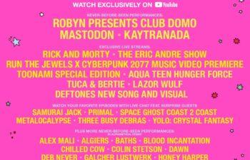 Афиша фестиваля «Adult Swim Festival» с провокационными словами о «новой песне Deftones и видеоряде»