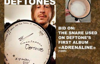 Группа Gojira выставила на аукцион малый барабан Эйба Каннингема