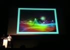 Чак Андерсон (Chuck Anderson) — художник, делающий оформление альбома Palms — выступает на конференции дизайнеров в Голливуде